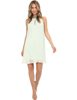 Chiffon Veiled Banded Sheath Dress by Adrianna Papell