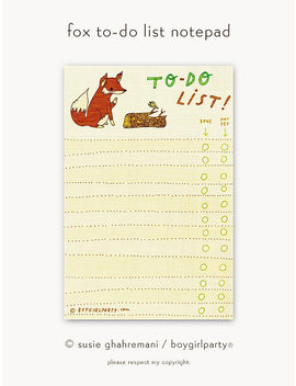 Fox To Do Notepad, Recycled Paper Planner, Paper Notepad, Inspirational Her, Mom Inspiration, Writing Inspiration, Daily Checklist by Etsy