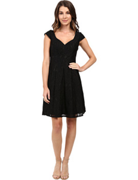Seamed Juliet Lace Fit And Flare Dress by Adrianna Papell