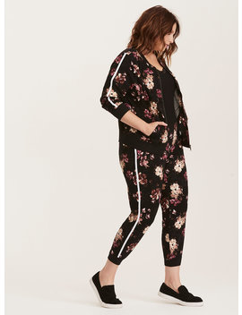 Floral Print Striped Jogger Pants by Torrid