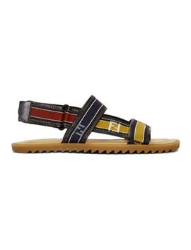 Multicolor Logo Strap Sandals by Fendi