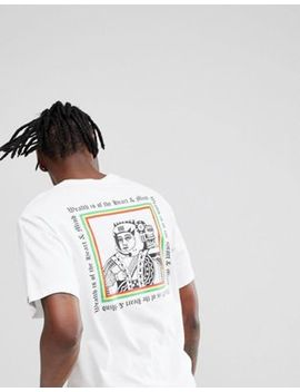 Billionaire Boys Club T Shirt With Playing Card Logo In White by Billionaire Boys Club