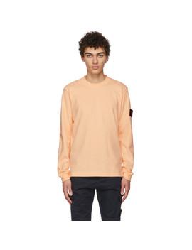 Orange Arm Badge T Shirt by Stone Island