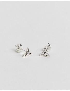 Kingsley Ryan Sterling Silver Celtic Stud Earrings by Kingsley Ryan