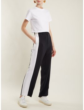 The Baby Cotton Jersey Cropped T Shirt by Hanes X Karla