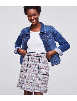 Tweed Pocket Shift Skirt by Loft