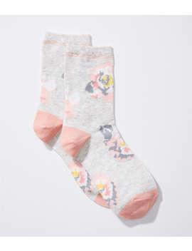 Peony Crew Socks by Loft