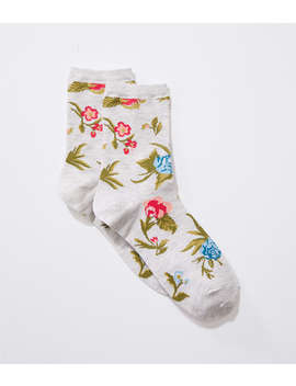 Poppy Bloom Crew Socks&Nbsp; by Loft
