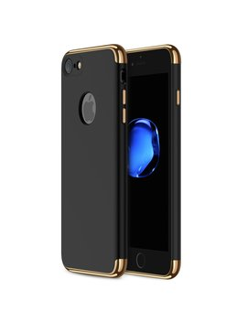 I Phone 7 Case Ranvoo 3 In 1 Stylish Thin Hard Slim Fit Case With 3 Detachable Parts For Apple I Phone 7 Only, Chrome Gold And Matte Black, [Clip On] by Ranvoo