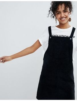 New Look Corduroy Pocket Pinny Dress by New Look