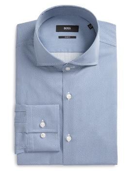 Jason Slim Fit Print Dress Shirt by Boss Hugo Boss
