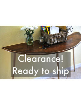 Clearance!   Half Moon Entryway Table   Console Table   Sofa Table   Semi Circle Entry Table by Etsy