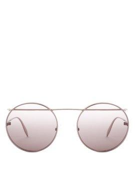 Round Frame Metal Sunglasses by Alexander Mc Queen