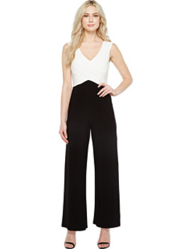 Color Blocked Matte Jersey Jumpsuit by Adrianna Papell