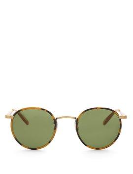 Wilson 46 Round Frame Sunglasses by Garrett Leight