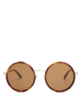 Round Frame Acetate Sunglasses by Saint Laurent