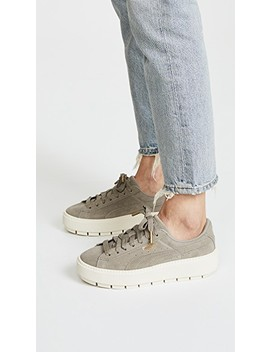 Suede Platform Trace Sneakers by Puma
