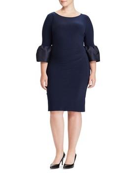 Taffeta Cuff Jersey Shift Dress by Lauren Ralph Lauren