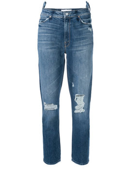 Distressed Cropped Jeans by Mother