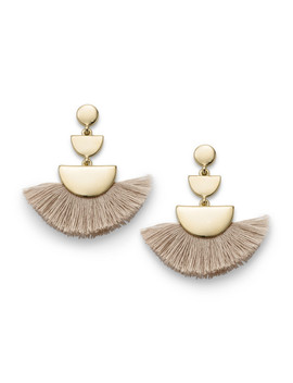 Vanilla Brass Fringe Earrings by Fossil