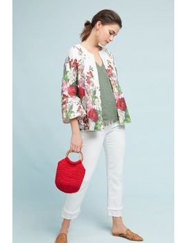 Rose Linen Coat by Eva Franco