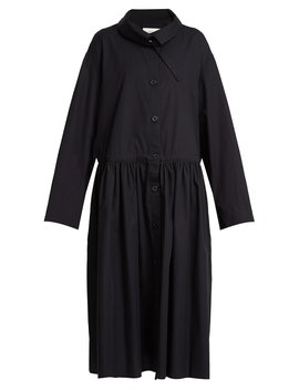 Button Down Cotton Poplin Trench Dress by Lemaire