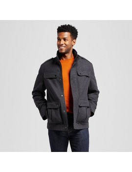 Men's Standard Fit Wool 4 Pocket Military Jacket   Goodfellow & Co™ by Goodfellow & Co™