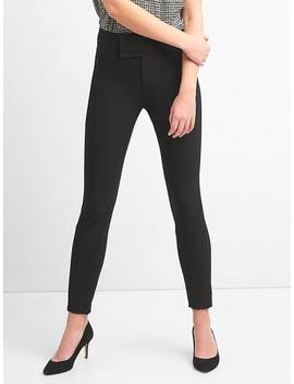 zip-leggings-with-wide-waistband-in-bi-stretch by gap