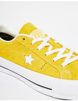 Converse Cons One Star Yellow Brushed Suede Trainers by Converse