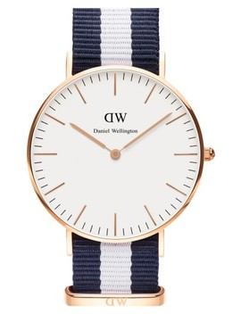 'classic Glasgow' Nato Strap Watch, 40mm by Daniel Wellington