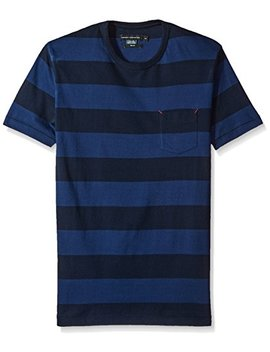 French Connection Men's Varsity View Stripes Slim Crew by French Connection