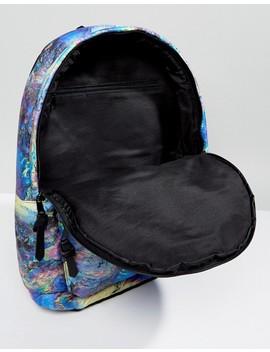 Asos Backpack In Printed Oil Slick Design by Asos