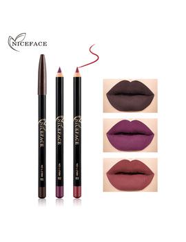 12 Colors  Beauty Professional Lipliner Pencil Waterproof Long Lasting Contour Lip Liner Pen Soft Red Nude Makeup by Tender Heart