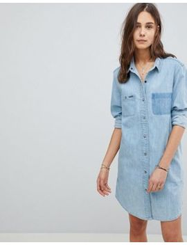 Superdry Oversize Denim Dress by Superdry