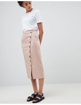 Asos White Check Skirt by Asos White
