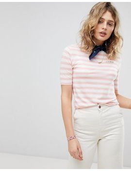 Maison Scotch Crew Neck Striped T Shirt by Maison Scotch
