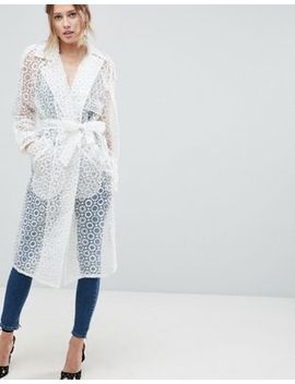 Asos Organza Belted Coat by Asos Collection