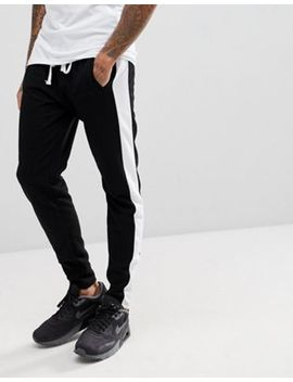 Liquor N Poker Joggers With Side Stripe And Ankle Zip by Liquor N Poker