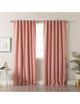 Aurora Home Solid Insulated Thermal Blackout Curtain Panel Pair by Aurora Home