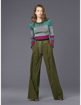 Long Sleeve Cropped Plaited Pull Over by Dvf