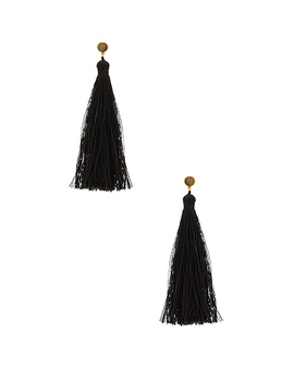 Tulum Gemstone Tassel Earrings by Gorjana