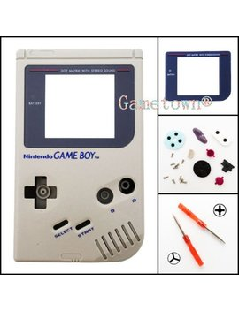 Gametown® Full Housing Shell Cover Case Pack With Screwdriver For Nintendo Gameboy Classic/Original Gb Dmg 01 Repair Part Gray by Gametown®