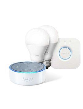 Echo Dot (2nd Generation)   White + Philips Hue White Starter Kit by Amazon