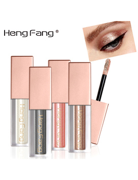 Heng Fang New Glitter Eyeshadow Makeup Waterproof Shimmer And Shine Gold Silver Luminous Pigments Liquid Eye Shadow Stick by Warm Family