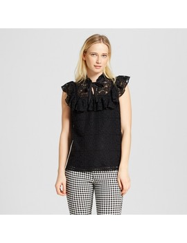 Women's Pioneer Lace Tank Top   Who What Wear™ Black by Who What Wear