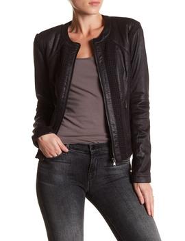 Knit Inset Jacket by Bnci By Blanc Noir
