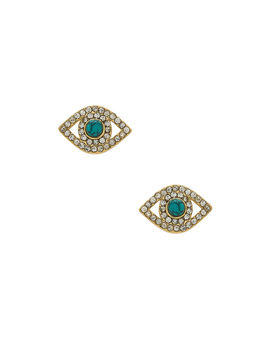 Evil Eye Stud Earrings by Rebecca Minkoff