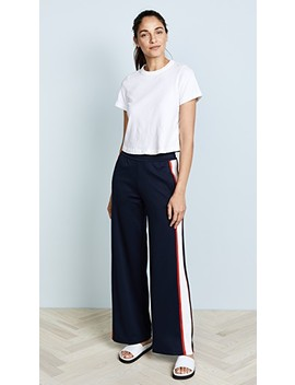 Wide Leg Track Pants by Tory Sport