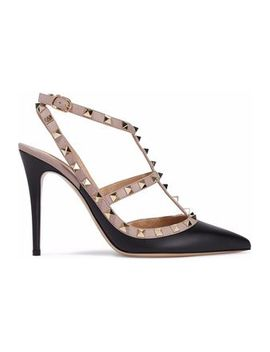 The Rockstud Studded Two Tone Leather Pumps by Valentino Garavani