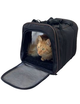 Pawfect Pet Pet Carrier,Large Soft Sided Airline Approved For Travel,For Cat And Dog,Top Loading,Foldable For Storage,Black by Pawfect Pet